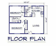 Guest house X floor plans Bernard Building Center - Ranch Small House Floor Plans, Cottage Floor Plans, Cabin Floor Plans, House Plans One Story, Ranch House Plans, Cottage House Plans, Story House, The Plan, How To Plan