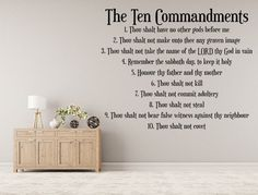 The 10 Commandments Wall Decal