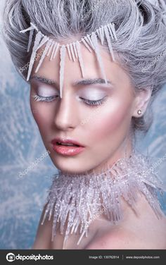 Ice Makeup, Punk Makeup, Crazy Makeup, Makeup Art, Fairy Makeup, Mermaid Makeup, Fantasy Hair, Fantasy Makeup, Snow Queen Makeup
