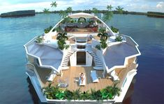 cool! Solar self sufficient yacht