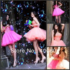 Promotion!Hot Real Sample Sherri Short Jeweled Prom Dresses 2014 Sweet 16 Tulle Layered Homecoming Party Dress $119.00