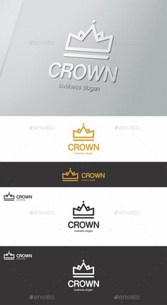 Crown Logo Template #design #logotype Download: http://graphicriver.net/item/crown-logo/13812728?ref=ksioks