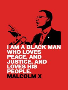 """Malcolm X.  More than a simple phrase, """"By any means necessary""""."""