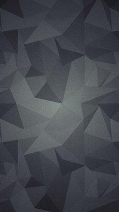 ざらついた黒のポリゴン iPhone5壁紙