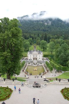 Linderhof Castle - Oberammergau, Germany Of all of Ludwig's palaces, quite beautiful.