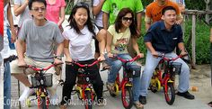 """So you've built your bicycle with one of our team building events but """"does it work""""? Fun bicycle team building in Bangkok, Thailand  http://teambuilding-bangkok.com/charity-bicycle-build-team-building-bangkok/"""