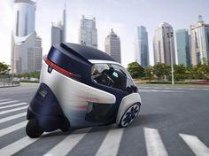 トヨタ「i-ROAD」画像ギャラリー -新感覚のリーンして曲がる3輪の電気自動車 | TOYOTA_IROAD_01_GMS_0004 | clicccar.com(クリッカー)