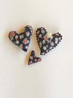 Excited to share this item from my #etsy shop: Stuffed mini heart pillows, basket fillers, bowl fillers, vintage fabric, handmade