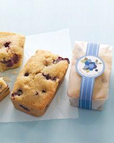 Blueberry Lemon Tea Cake and printable label