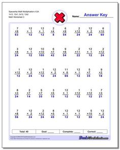 These multiplication worksheets extend the one minute math fact timed tests with the and facts. These are valuable multiplication facts to learn for many time and geometry problems. Many more free math worksheets. click through to print and practice! Multiplication Timed Test, Printable Multiplication Worksheets, Multi Digit Multiplication, Multiplication Problems, Free Math Worksheets, Geometry Problems, 12th Maths, Math Facts, Goodies