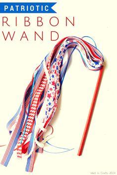 Patriotic Ribbon Wand Tutorial
