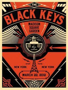 Black Keys Live - OBEY GIANT - influenced by Russian Constructivism /Black Keys fan/