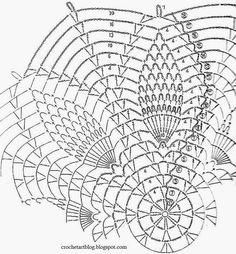 Art Crochet: Szydełkowa serwetka wzór - Piękne Proste Ananas Koronki