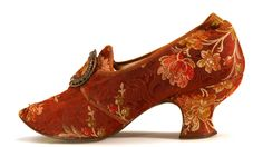 Brocade Louis Heel Pump | c. 1880