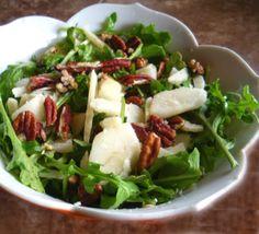 Roasted Pear And Arugula Salad With Walnuts And Parmesan Recipe - Food.com