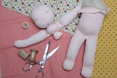 Waldorf doll in process. Kit from Weir Dolls and Crafts