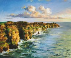 Cliffs Of Mohar 2 by Conor Mcguire on ArtClick.ie Art from Ireland County Clare