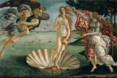 The Birth of Venus, 1485, tempera, Sandro Botticelli