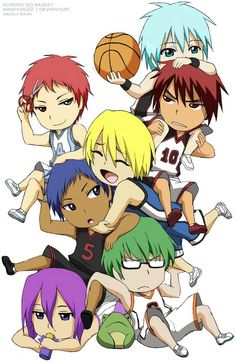 This is my new picture of Kuroko no Basket! In chibi version ~ cause i love chibis ~ Is a tradicional art lines, with a digital paint. Kuroko no Basket - Chibi Chibi Boy, Cute Chibi, Anime Chibi, Kawaii Anime, Anime Art, Kuroko Chibi, Otaku Anime, Kurokos Basketball, Kuroko No Basket Characters