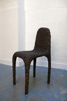 """British designer Max Lamb has sent photos and text explaining the making of his Bronze Poly Chair, a recent design that involves hand-carving a polystyrene chair and then casting it in bronze. The project combines techniques from two of his previous projects, Pewter Stool and Polystyrene Chair. Lamb calls the casting process """"lost foam"""", as"""