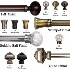 This Lexington inch Diameter Rod Set from Versailles Home Fashions offers multiple finishes for you to choose the suitable one for your home décor. Window Coverings, Window Treatments, Decorative Curtain Rods, Outdoor Curtains, Drapery Hardware, Steel Rod, Simple Designs, Are You The One, Bubbles