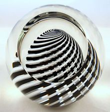 Paul Harrie's Clear Cut Black & White Paperweight!!