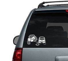Toyota peeing on a Jeep Car Decal Sticker by HappyFlightDesigns
