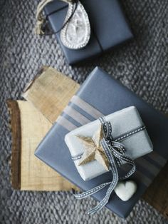 pretty blue wrapping