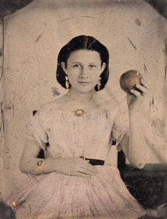 Jenny Cheairs, abt 14 years old---is she bedecked with jewelry or what?
