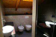 gray concreete toilet