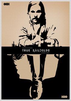True Detective Poster Set by Daniel Lusby, via Behance