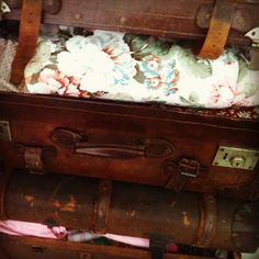 Vintage suitcases for some hefty storage