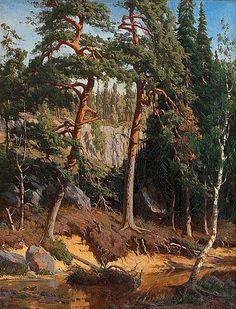 Fanny Churberg (Finnish, 1845 -1892): Metsänsisusta 1878