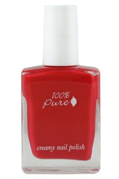 100% Pure Creamy Nail Polish in Tomato- Never underestimate the ability of a '50s-inspired crimson nail to brighten up any day, meeting, or occasion. This long-wearing, creamy pop of color is perfect for channeling your inner pinup.