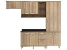 Cozinha Compacta Multimóveis Sicilia - com Balcão 9 Portas 3 Gavetas com as melhores condições você encontra no Magazine Lucimarmagzine. Confira!