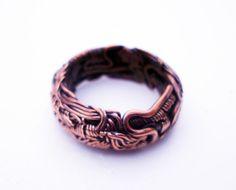 Ring Garta Ornate Weaving Ring Unique Ring Twisted by KotiuniaArt