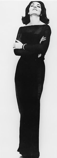 Maria Callas // Every publicity picture of her dares you to doubt her.