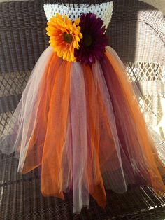 Baby tutu dress, flower girl dress, sunflower, plum, orange, beige, tan, wedding, photos, birthday, sunflower, autumn, fall, crochet top