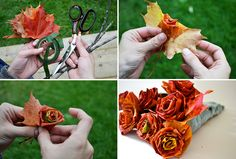 Make an awesome autumn decoration out of falling leafs and sticks.