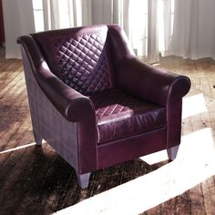 Our Chair No Two Twenty In Aubergine Leather With Quilt Sching And A