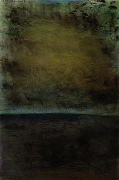 "Colin McCahon ""A Poem of Kaipara Flat"", watercolour, 1971 Auckland Art Gallery, New Zealand Art, Nz Art, European Paintings, Naive Art, Contemporary Artwork, Outsider Art, Postmodernism, Art Studies"