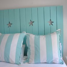 beautiful headboard for a beach cottage