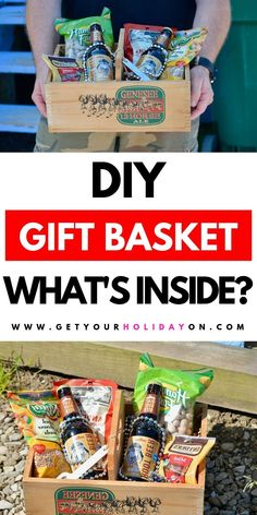 Unisex gift basket ideas for men or women! Discover what's inside! #giftbasket #food #partyfavors #diygifts Food Gift Baskets, Holiday Gift Baskets, Gift Baskets For Men, Themed Gift Baskets, Birthday Gift Baskets, Raffle Baskets, 21st Birthday Gifts, Birthday Gifts For Boyfriend, Boyfriend Gift Basket