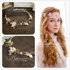 高端手工淡水珍珠發飾出口歐美新娘發飾簡約時尚新娘頭飾-淘寶台灣,萬能的淘寶