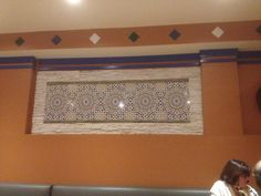 Awesome tile mosaic design in Toronto Moroccan restaurant. Great idea for a renovation.