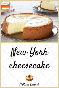 cheesecake recipes new york Strawberry Cheesecake Recipe Easy, Cheesecake Factory Recipes, Homemade Cheesecake, Easy Cheesecake Recipes, Dessert Recipes, Easy Desserts, Sweet Recipes, Classic Cheesecake, Style Inspiration