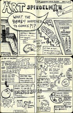 What the #$%@ Happened to Comics (Lecture Sketchnotes) by murdocke23, via Flickr