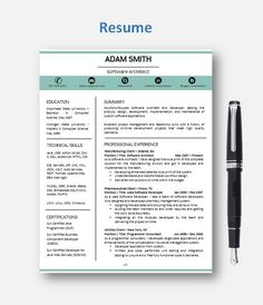 CV Template   Resume Template with add-on for extra pages, Cover and Reference Letters in Word format   Instant Digital Download   Mac or Pc by ResumeEnhancer on Etsy