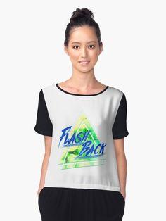 'Flash Back Neon Blue&Green' Chiffontop von FejuLegacy Tees For Women, Chiffon Tops, Blue Green, Woman, Unique, Mens Tops, Fashion, Sleeveless Tops, Cinch Bag