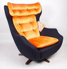 Vintage Retro SwivelRocking Egg Chair Parker Knoll Type Without - Parker knoll egg chair
